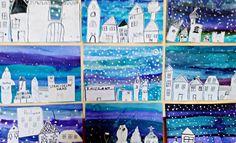 Tvoříme s dětmi ☺: Zimní městečko Montessori, Children, Winter, Painting, Art, Crafts, Young Children, Winter Time, Art Background