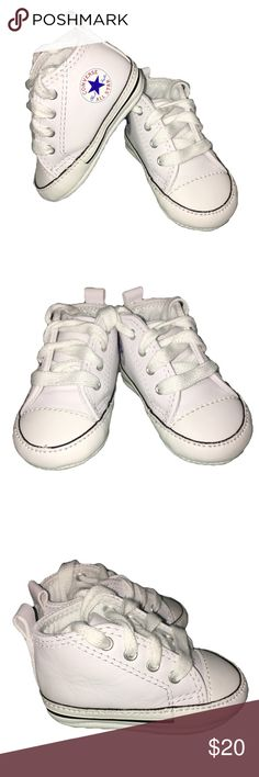 Infant Converse New in box, white leather Converse crib shoes. Converse Shoes Baby & Walker