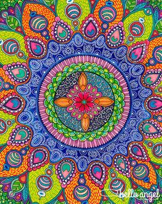 Mardi Gras Mandala by Hello Angel Creative
