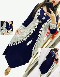 Kurti Patterns, Dress Patterns, Churidar Designs, Punjabi Suits, Salwar Suits, Wrap Shirt, Western Dresses, Jacket Style, Pakistani Dresses