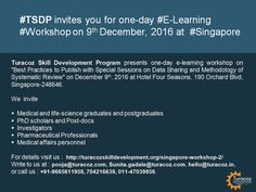 #TSDP, an initiative by #TuracozHealthcareSolutions, calls #MedicalAndHealthcareProfessionals, & Ph.D scholars for an #ELearningWorkshop on the best practices to publish, #DataSharing and #SystematicReviews.