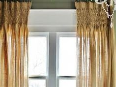 #P2009 Burlap Smocked Curtains  PAY 1/2 DOWN