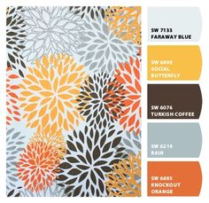 Office paint colors: Love Rain as the main color and Social Butterfly as the accent wall color.