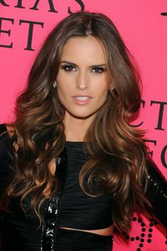 Izabel Goulart. Victorias Secret hair and makeup.