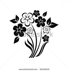 abstract floral composition of wildflowers vector for design by Lena Livaya, via ShutterStock