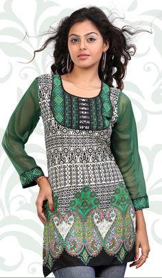 http://www.bharatplaza.com/evoking-off-white-and-green-kurti.html