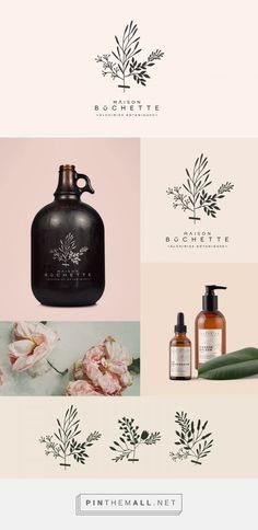 Maison Bûchette Natural Beauty Product Logo and Packaging by Gaëlle Faure