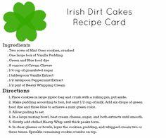 Irish Dirt Cake Recipe