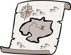 Kincses Térkép, Kincsvadászat, Kalóz Kincs, Térkép