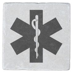EMS Theme Stone Beverage Coaster