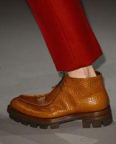 Catalogo sfilata scarpe uomo Prada autunno inverno 2013 2014 FOTO