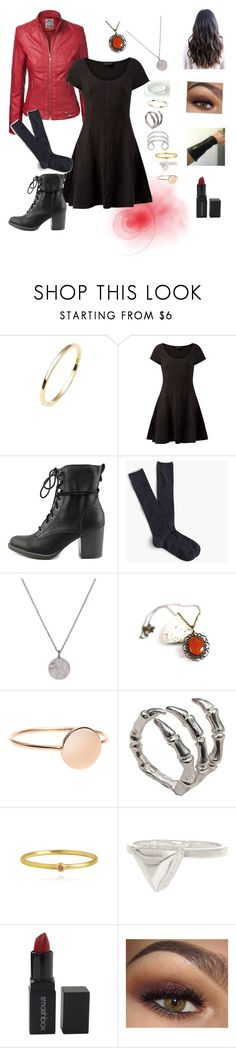 """Scarlet Witch/ Wanda Maximoff"" by dayna-eichenser on Polyvore featuring Isabel Lennse, American Rag Cie, J.Crew, Bernard Delettrez, Anna Beck and Smashbox"
