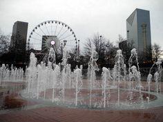 Centennial Olympic Park on a December morning.  (Atlanta)