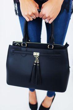 Black Leatherette Bag - Dottie Couture Boutique Dottie Couture Boutique, Hermes Kelly, Kate Spade, My Style, Bags, Fashion, Accessories, Fashion Styles, Handbags