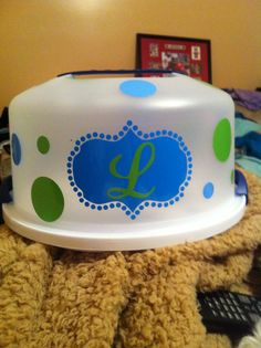 Cake Carrier Target Stunning Used Cricut For This Projectcake Carrier From Target And Vinyl Design Inspiration