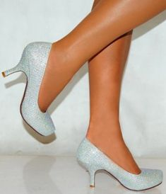 Low heel, closed toe and sparkly. sorted!