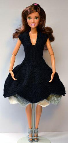 http://www.stickatillbarbie.se/  1000s of patterns for barbie