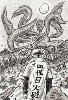 Minato Namikaze (Yondaime) when he's about to battle Kyuubi who is destroying Konoha i read chapter 440 the other day and seein Yondaime there and the e. The Heroic Destiny Anime Naruto, Susanoo Naruto, Naruto Shippuden Sasuke, Naruto Art, Otaku Anime, Manga Anime, Boruto, Naruto Sketch, Naruto Drawings