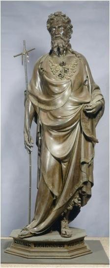 St. John the Baptist - Lorenzo Ghiberti.  1412-14.  Museo di Orsanmichele, Florence, Italy.