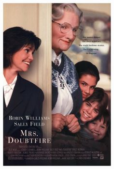 Mrs. Doubtfire was reproduced on Premium Heavy Stock Paper which captures all of the vivid colors and details of the original. The overall paper size is 27.00 x 40.00 inches and the image size is 27.00 x 40.00 inches. This print is ready for hanging or framing. Brand New and Rolled and ready for display or framing. Print Title: Mrs. Doubtfire. Paper Size: 27.00 x 40.00 inches. Product Type: Movie Poster. Mrs Doubtfire Movie, Madame Doubtfire, Robin Williams, Matthew Lawrence, Pierce Brosnan, Indie Movies, New Movies, Movies Online, Fake Identity