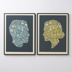 Flowering Confetti Hers Silhouette Print | Schoolhouse Electric