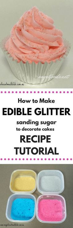 Make Your Own Sanding Sugar (Edible Glitter Tutorial) | Angel Foods | Edible Glitter is a necessity in the cake decorating world to add a little more sparkle and shine to some of our customer's cakes. However, sanding sugar and edible glitter has become quite expensive. And this cost also then is transferred on to your customers. So why not make your own affordable version?!