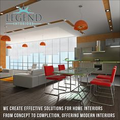 We create effective Solutions for Home Interiors from concept to completion, offering modern interiors http://www.legendinteriors.in/