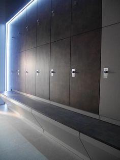 Luxury gym lockers for Warsaw fitness club.
