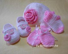 Conjunto de crochê para bebe