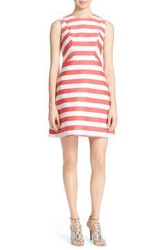 KATE SPADE NEW YORK 'Small Kite' Stripe A-Line Dress. #katespadenewyork #cloth #