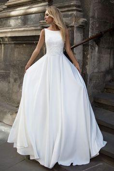 Robe de mariée élégante – Création Eve (devant)