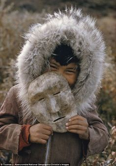 This digital inkjet print of A Nunamiut boy, Anaktuvuk Pass, Alaska, will expect to fetch around $3000 at Christie's sale of 'The National Geographic Collection: The Art of Exploration'