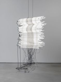 Monica Bonvicini 2017 led light tubes wire steel