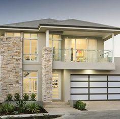 The Hadleigh © Ben Trager Homes 2 Storey House Design, House Front Design, Modern House Design, Dream House Exterior, Dream House Plans, Casa Top, Model House Plan, Villa, Luxury Homes Dream Houses
