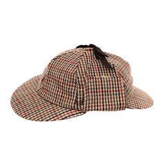 7e44c5086d6 Sherlock Holmes Deerstalker Hawkins Hat Tweed Victorian Edwardian Style New