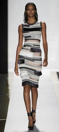Fringe details on Herver Leger   Spring 2014 Fashion Trends - Coleen Ladies Fashions