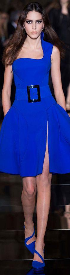 Spring 2015 Couture Atelier Versace one shoulder blue dress #UNIQUE_WOMENS_FASHION