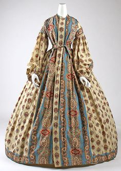 American cotton wrapper 1840s- although I personally think it's more 1860's.... I love this print.