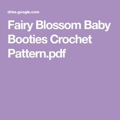 Fairy Blossom Baby Booties Crochet Pattern.pdf