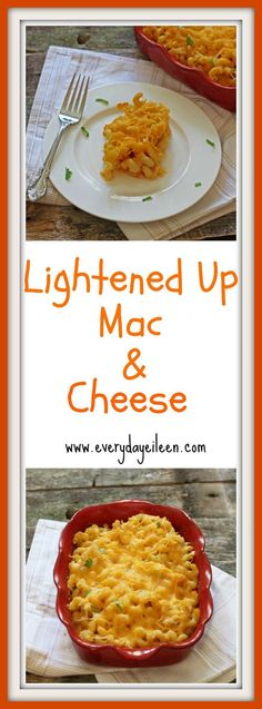 lightened-up-mac-and-cheese is a great way to have that cheesy flavor without all those extra calories.  Made with high fiber pasta, skim milk, and low-fat cheese keeps the calories lower.  Add in the smokey flavor of smoked paprika and you have a great meal!