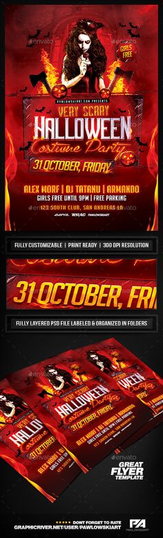 Very Scary Halloween Party Flyer Template - Holidays Events