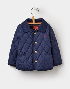 Perfect for Joshua when he starts walking to wear on all those family days out!   Milford French Navy Quilted Jacket | Joules UK