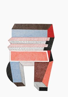 Big and small ← Nathalie Du Pasquier ← The Wrong Shop Illustrations, Graphic Illustration, Graphic Art, Art Design, Book Design, Nathalie Du Pasquier, Geometric Sculpture, Design Graphique, Collage Art