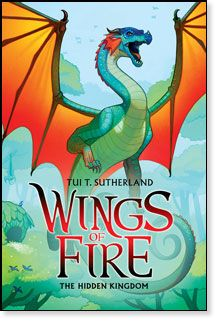 Wings of Fire Book Three: The Hidden Kingdom by Tui T. Sutherland  Deep in the rainforest, danger awaits . . . The dragonets of destiny aren't sure what to expect in the RainWing kingdom. Something deadly is stalking the peaceful kingdom, and the dragonets soon discover that RainWings have been mysteriously disappearing from the forest. When the RainWing queen won't do anything to find her missing tribe members, Glory and her friends set off on their own rescue mission.