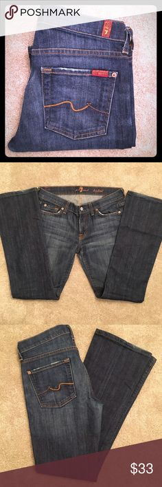 7 For All Mankind Ladies Bootcut Jeans- Size 28 7 For All Mankind Ladies Bootcut Jeans- Size 28.  Excellent Condition!  Waist: 36 inches; Inseam: 31 inches; Outseam: 40 inches; Rise: 9 inches.  Style #U075080U 7 For All Mankind Jeans Boot Cut