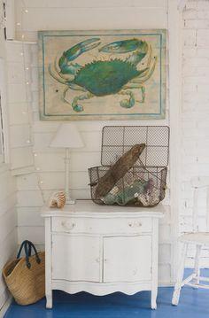 Jane Coslick Cottage Collection - Original Artwork Blue Crab