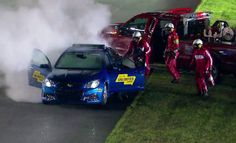 No Joke. Chevy SS Pace Car Goes Up In Flames At #NASCAR Sprint Unlimited! Hit the image to watch the unbelievable video