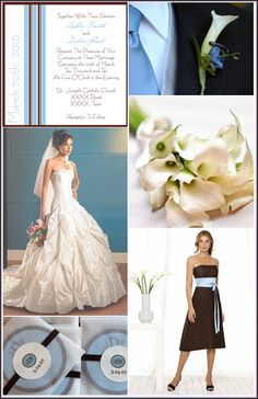 blue and brown wedding