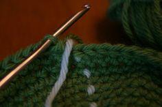 crochet stitch marker by kelanew, via Flickr