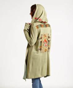 Great long hooded coat.